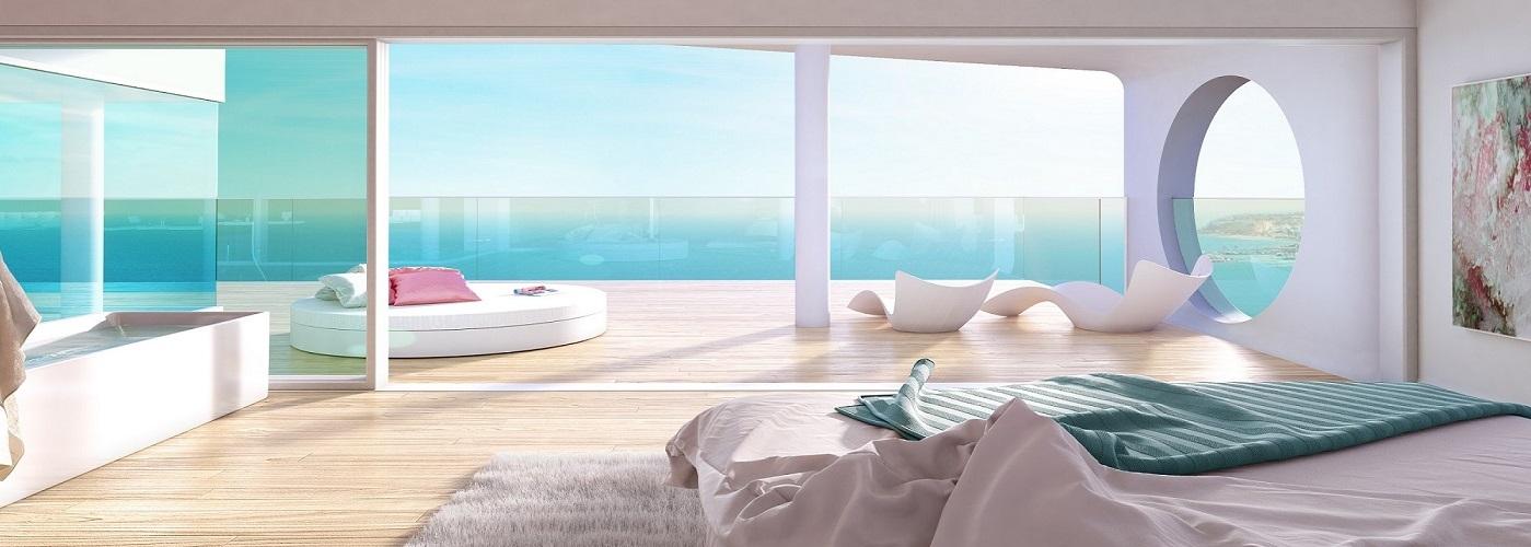Apartments, townhouses and villas in luxury resort in Benalmadena